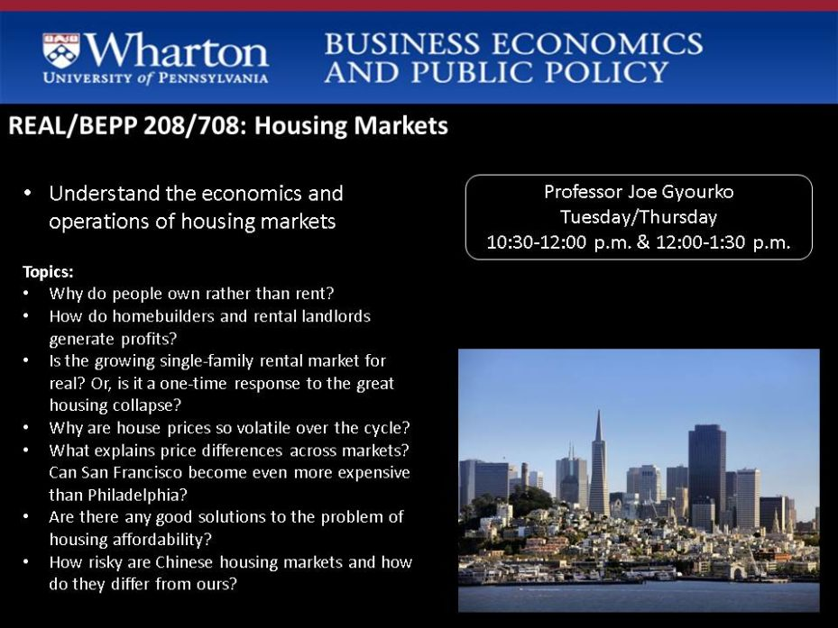 Real Estate and Business Economics and Public Policy 208 Class promo